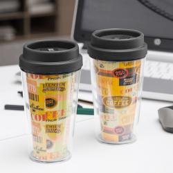 Vaso con Tapa y Doble Pared Coffee - Imagen 1