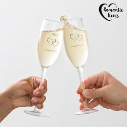 Copas Mr & Mrs Congratulations Romantic Items (pack de 2) - Imagen 1