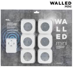 Focos LED WalLED Mini con Mando (pack de 6) - Imagen 1